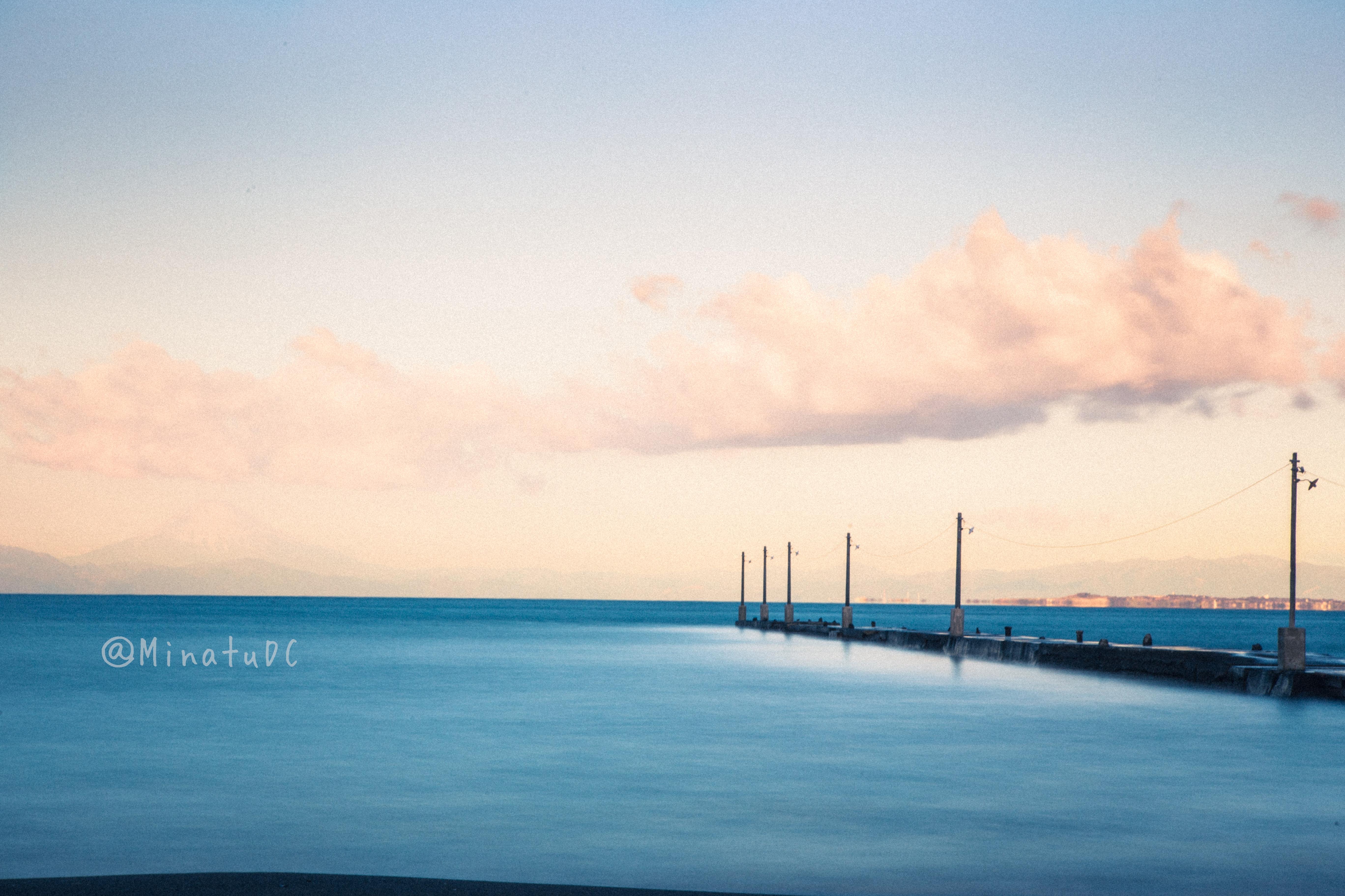 朝の原岡桟橋の写真